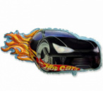 Шар фольгированный гоночная машина Hot cars черная 79 см