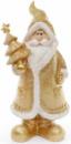 Фигурка декоративная «Санта Клаус в золотом с елкой» 22.5см