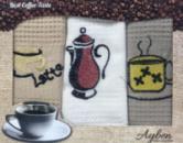 Набор 3 кухонных полотенца Ayben M4807 35х50, вафельные