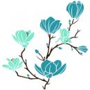 Виниловая Наклейка Glozis Magnolia Aquamarine