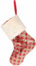 Носок для подарков «Блестящий красный» 43см с пайетками