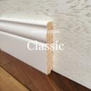 Високий білий дерев'яний плінтус Classic 12 см (16*120мм)