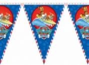 Гирлянда праздничная, длиной 200 см (10 флажков на атласной ленте).
