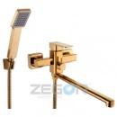 Смеситель для ванны ZEGOR LEB7-A-G (золото)