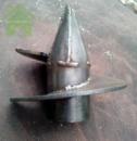 Сварной одновитковый наконечник для винтовой сваи Ø 76 мм.
