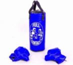Детский боксерский набор (перчатки+мешок) FULL CONTACT 4675-М синий