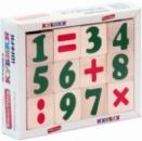 Кубики «Цифры и знаки», KOMAROVTOYS