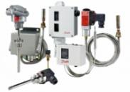 Датчики, реле и преобразователи температуры Danfoss