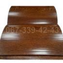 Сайдинг металлический 067-339-42-43 под бревно, брус Светлый Дуб (шир. 0,35 м)