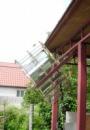 Балконный коллектор солнечного излучения на основе линейного концентратора