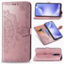 Кожаный чехол (книжка) Art Case с визитницей для Xiaomi Redmi K30 Розовый