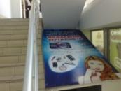Монтаж рекламных баннеров (вывеска) заказать недорого цена