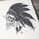 Рисунок Череп индейца