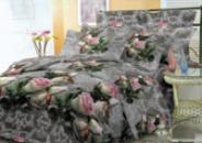 Комплект постельного белья Уютная Жизнь Двуспальный 180x215 Королевская роза