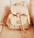 Рюкзак для девочки, БЕЖЕВОГО ЦВЕТА, можно носить в школу