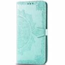Кожаный чехол (книжка) Art Case с визитницей для Samsung Galaxy M20 Бирюзовый