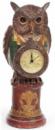 Декоративная фигурка с часами «Мудрая Сова в зеленом кафтане» 32см