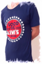 Футболка «Levis jeans» темно-синяя