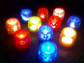 Сенсорная электронная свеча с мерцающими силуэтами