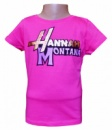 Футболка для девочек розовая с надписью хлопковая, бренд «Disney by Hannah Montana»