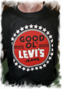 Футболка «Levis jeans» черная