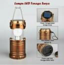 Аккумуляторный Кемпинговый фонарь с солнечной панелью и функцией Рower Вank (цвет - золотой)