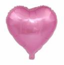 Фольгированный шар сердце розовое 18'' 45 см