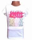 Футболка белая детская (подростковая) для танцев, ритмики «Высшая музыкальная школа», бренд «Дисней» («Disney»)