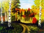 Картина маслом «Осень». Автор-художник Ирина Борисова