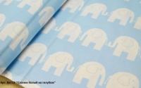 Арт. №113 «Слоник белый на голубом»