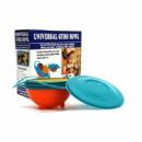 Детская тарелка-неваляшка Universal Gyro Bowl Желто-голубой (BvDff64lolI)