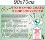 Стенд для медицинского учреждения «Что нужно знать о близорукости» в Донецке