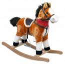 Лошадка-качалка Baby Mix XR318 коричневый