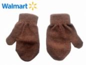 Рукавицы (варежки) коричневые детские, бренд «Walmart» (США)
