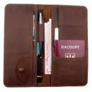 Кожаный органайзер для документов Коричневый Нубук (ХР59610)