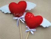 Валентинка из фетра Сердце с крыльями