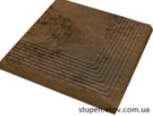 Ступень угловая рельефная структурная SEMIR BEIGE 30x30