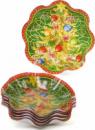 Набор 6 новогодних стеклянных тарелок «Елка» Ø23х4.5см