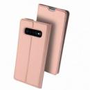 Чехол-книжка Dux Ducis с карманом для визиток для Samsung Galaxy S10+ Rose Gold