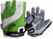 Велорукавички PowerPlay 5034 C Біло-зелені M