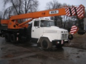 Аренда автокрана КТА25 на базе КРАЗа