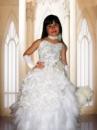 Прокат платья «Букли» белое на выпуск в детский сад.