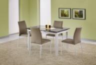 Стол со стеклянной столешницей «ALSTON бежевый + K168»