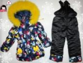Зимний комбинезон для девочки +куртка 2-3 года натуральная опушка