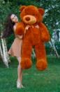 Большой плюшевый медведь Тедди 160см коричневый