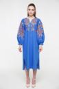 Платье-вышиванка 2KOLYORY «Знахідка» XS-S Васильковый (3063-XS/S)