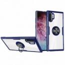 TPU+PC чехол Deen CrystalRing под магнитный держатель для Samsung Galaxy Note 10 Plus Бесцветный / Синий