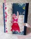 Блокнот ручной работы «Розовое платье»