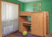 Детская двухярусная кровать Дуэт-1 ТМ Пехотин
