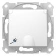 Розетка Sedna з заземленням та захисними шторками, з кришкою біла SDN3100121
